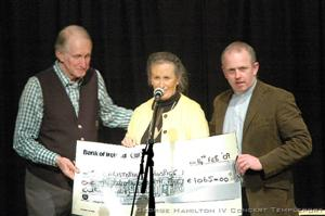 George Hamilton IV and Geoff presenting cheque