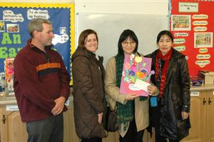 Mongolian visitors to Bawnboy National School